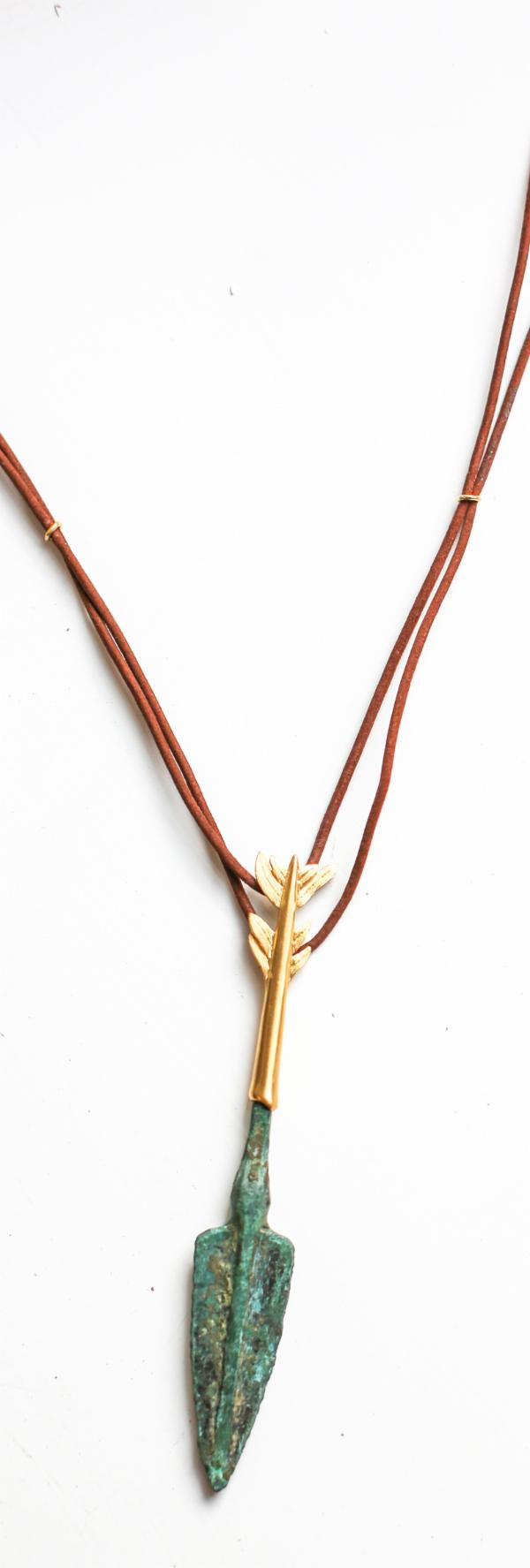 Ancient Bronze Spear Necklace