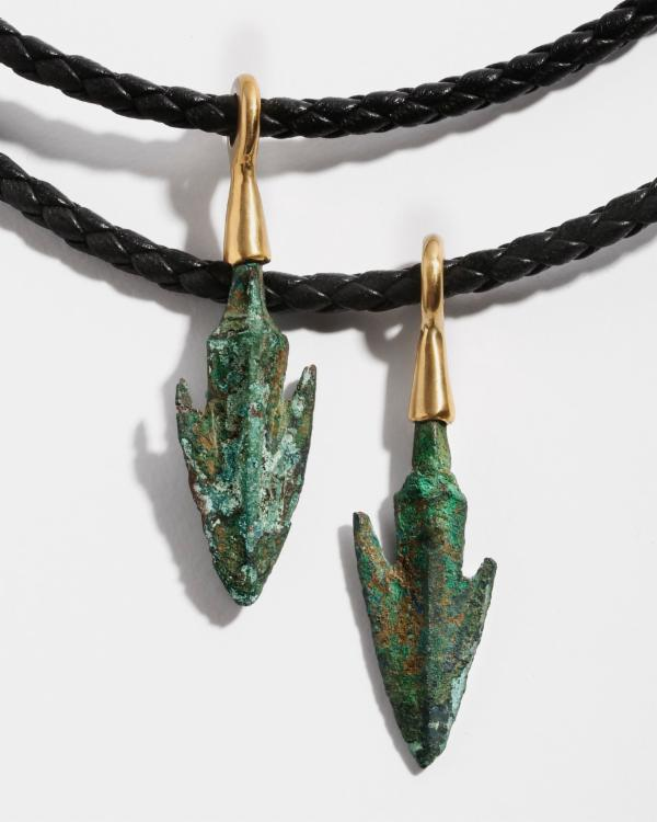 Ancient Bronze Arrowhead Pendant