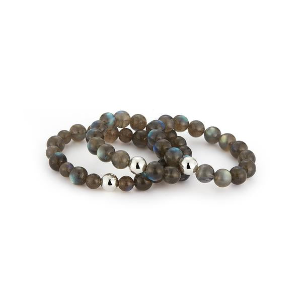 9-11MM Small Labradorite Bead Bracelet