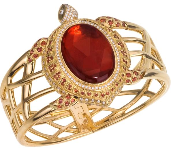 Fire Opal Sea Turtle Cuff