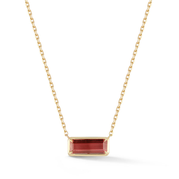 Small Rubellite Necklace