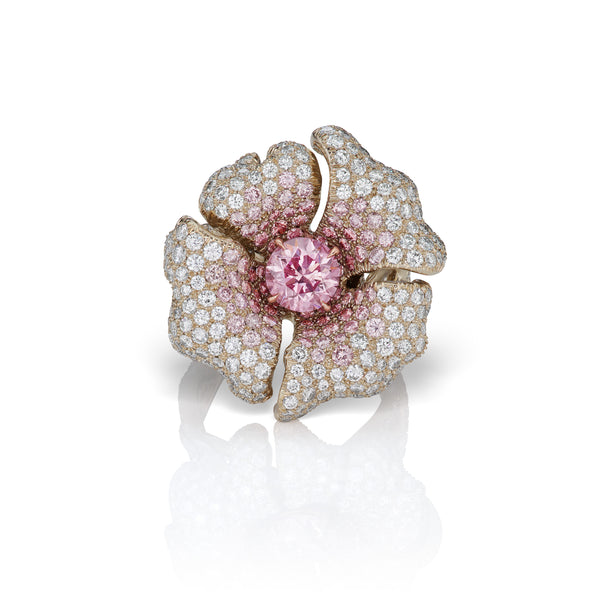 Pink Diamond Lily Ring