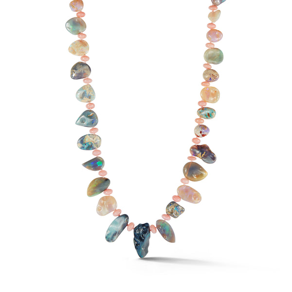 Boulder Opal and Peruvian Opal Necklace