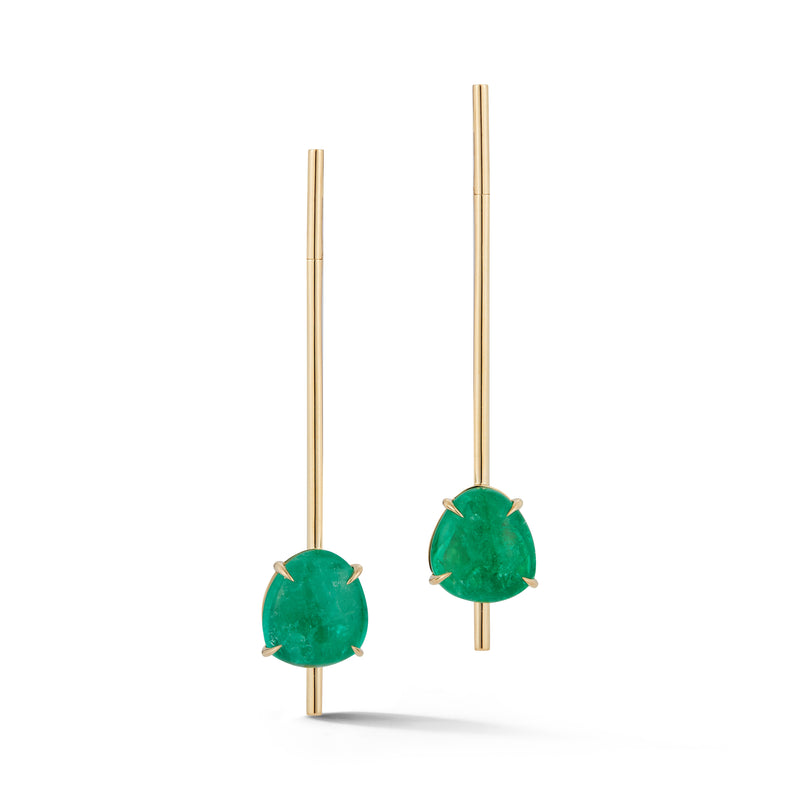 Muzo X Katherine Jetter Collaboration Emerald Bar Earrings