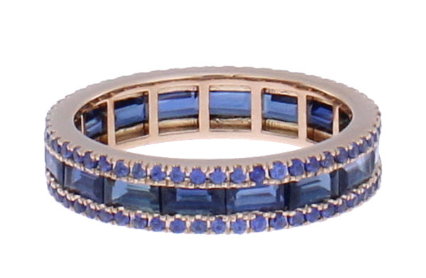 Blue Sapphire Origami Stacking Band