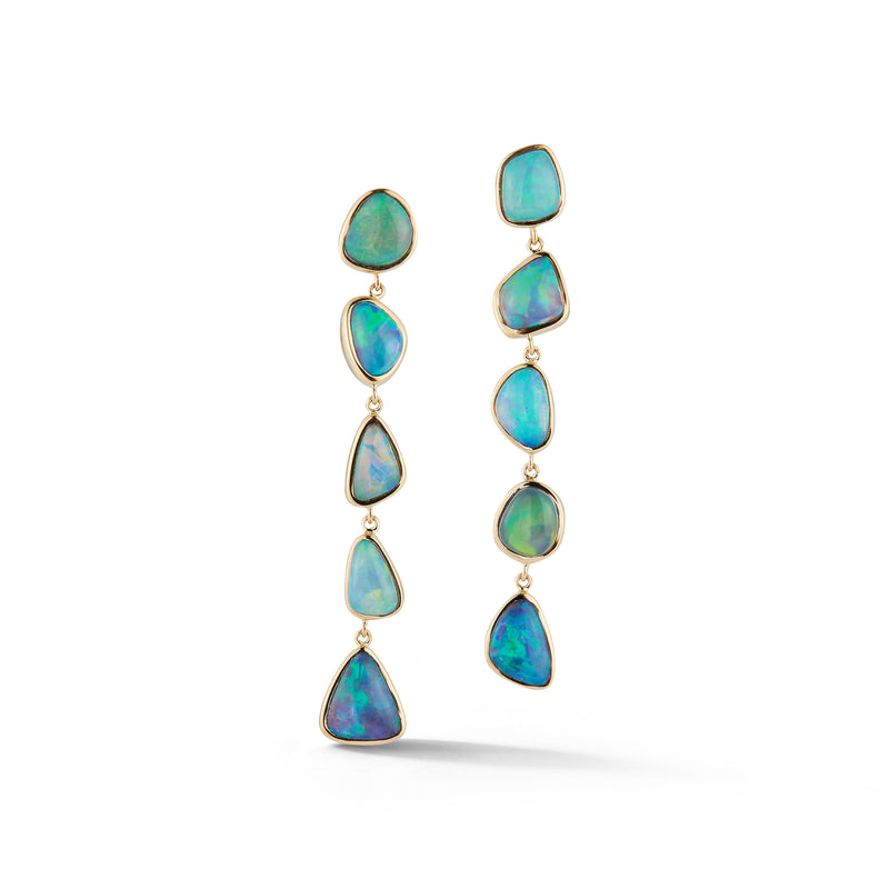 Opal Line Earrings