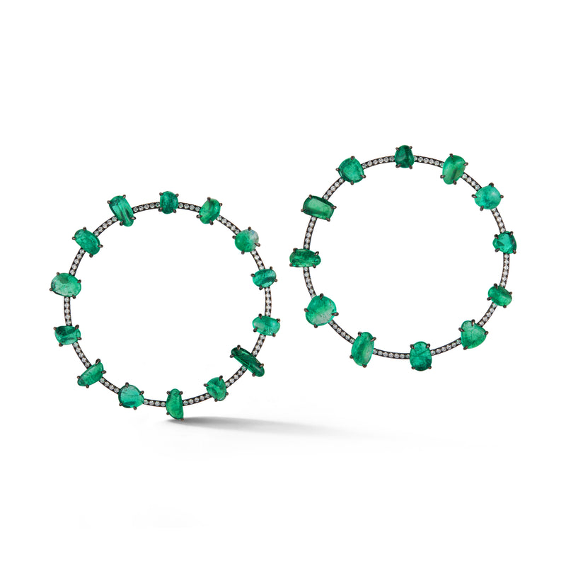 Muzo X Katherine Jetter Collaboration Emerald Orbit and Diamond Orbit Earrings