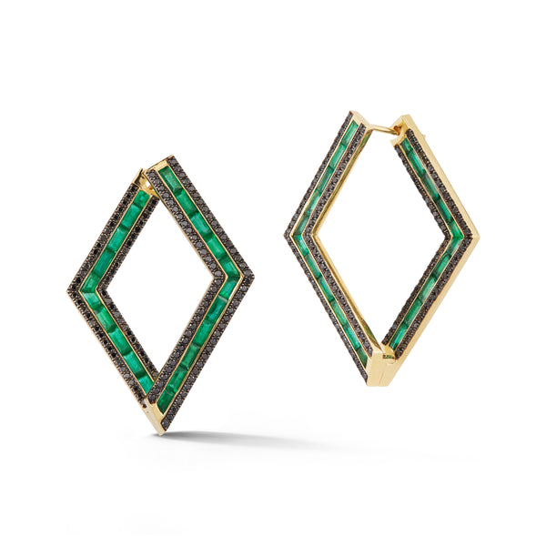 Emerald Origami Earrings