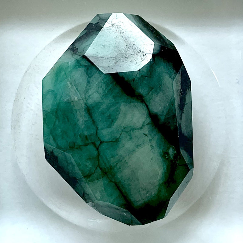 Custom Cut Emerald Gemstone