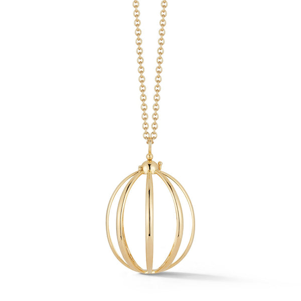 Medium Cage Necklace in Yellow Gold