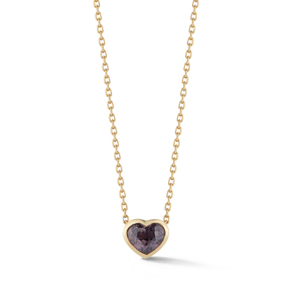Large Spinel Heart Pendant