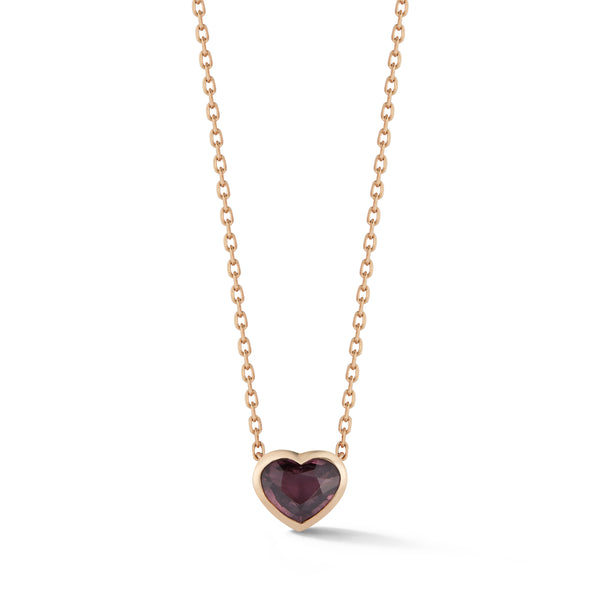 Small Spinel Heart Pendant