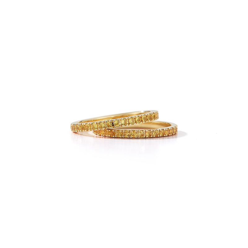 Yellow Sapphire Eternity Band Rings
