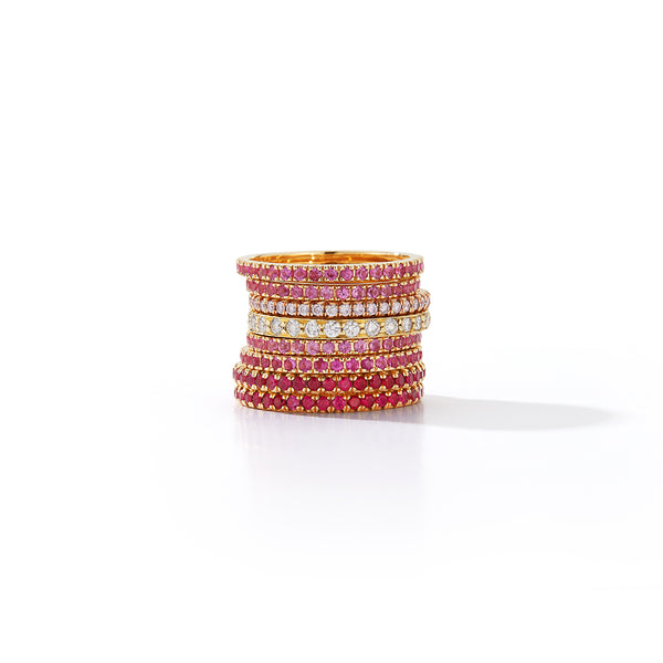 Pink Sapphire Eternity Band Rings
