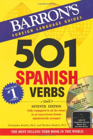 Barron's 501 Spanish Verbs with CD-ROM and Audio CD