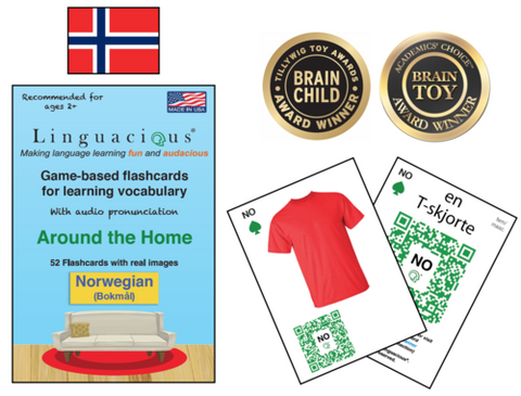 Linguacious Flash Cards - Norwegian