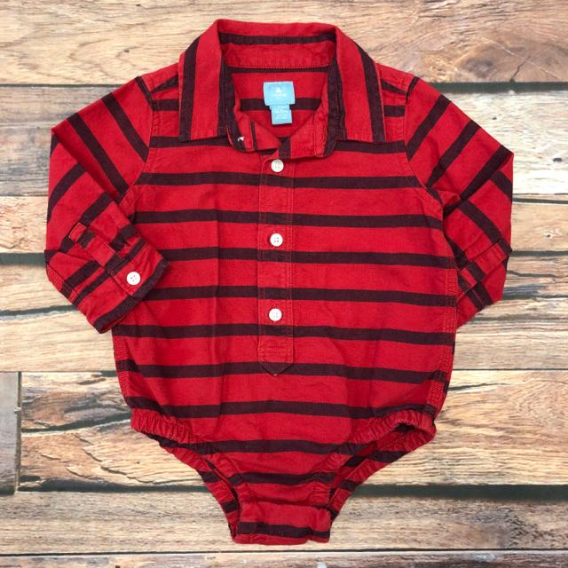 Baby Gap Shirt Boy's Red Striped (6 - 12 months) - The Kids Shoppe Windsor