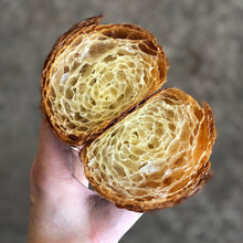 Load image into Gallery viewer, Cross Section of Bostock Bakery All Butter Croissant