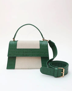 The Graphic Frame Bag Croc Embossed