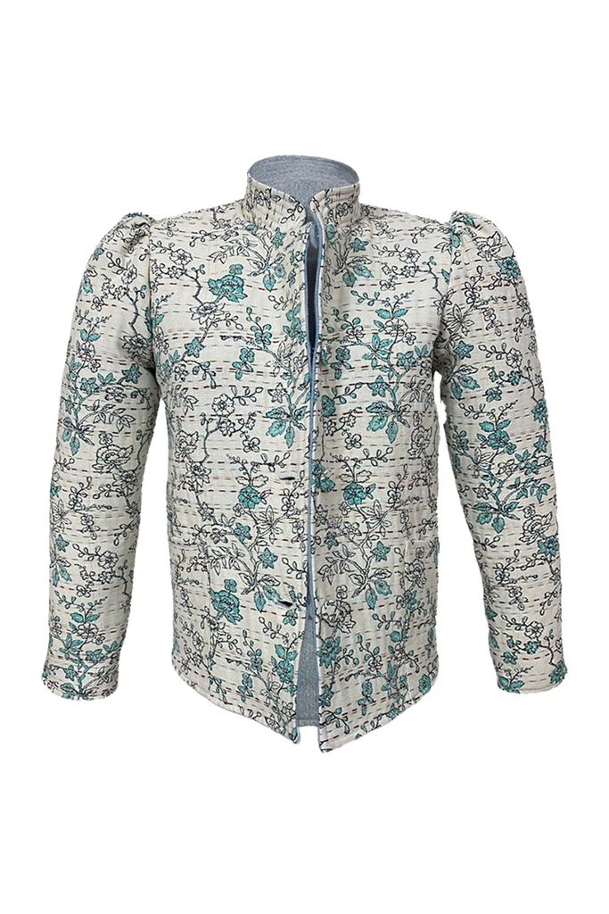 Magic Jacket, Teal Cherry Blossom