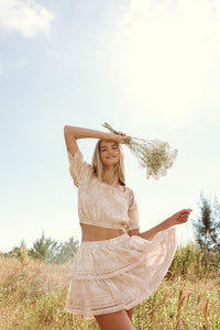 Milos Skirt, Sandy Bloom