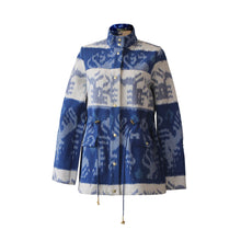Load image into Gallery viewer, Blue Monkey Ikat Jacket