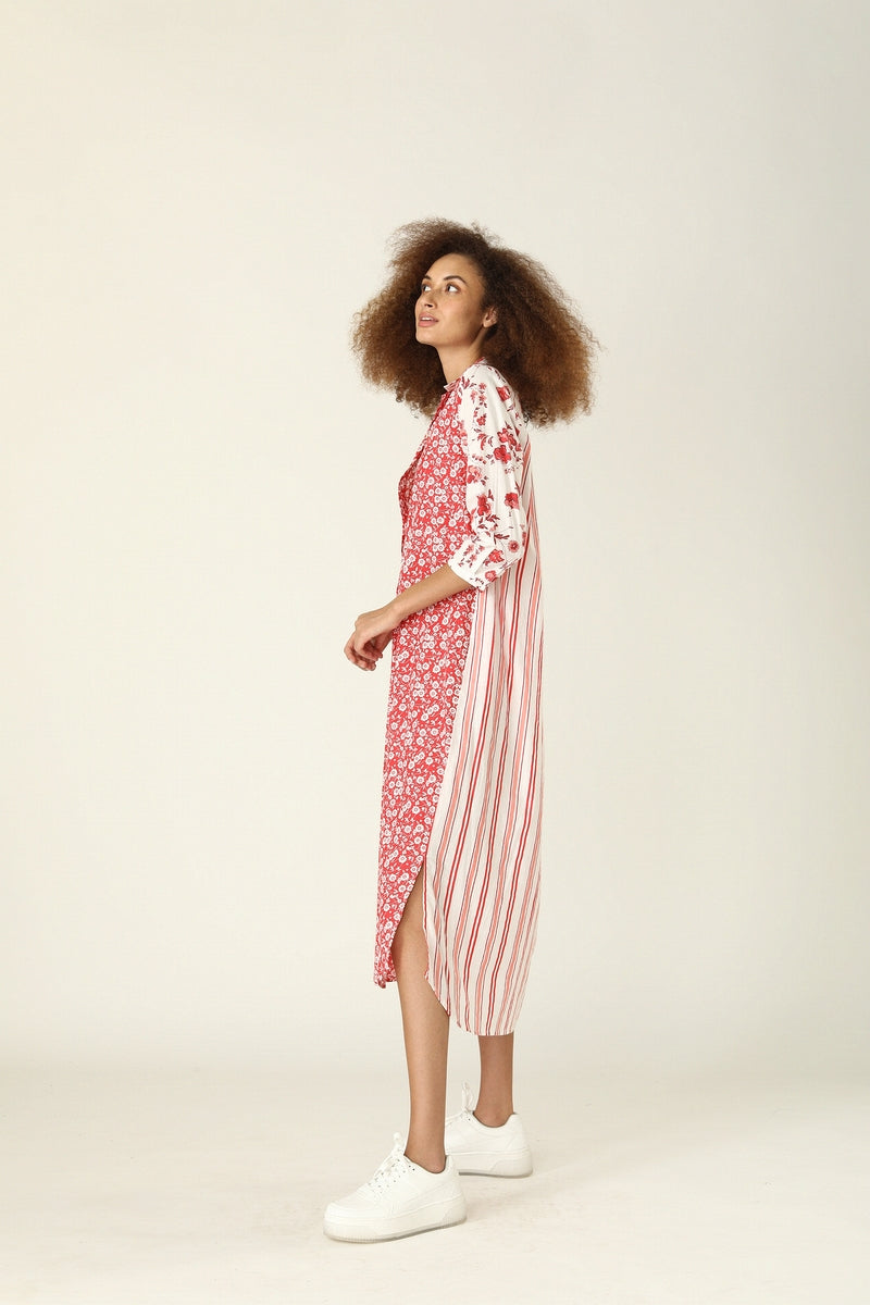 Brooklyn Long Dress, Provence Red