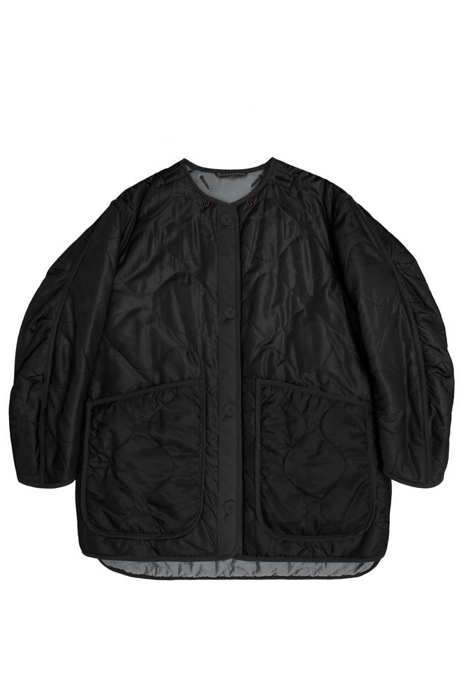 The Reversible Cropped Quilt, Anthracite and Black