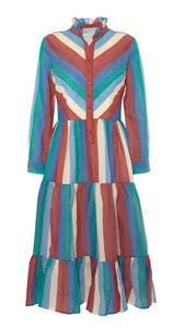 Dakota Dress, Circus Stripe