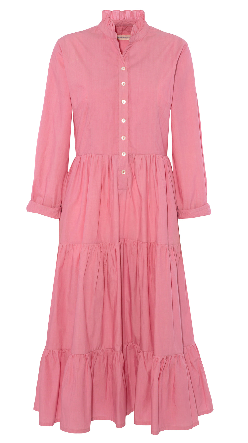 Dakota Dress, Pink Poplin
