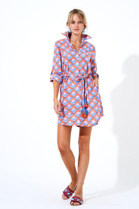 Deco Coral Shirt Dress