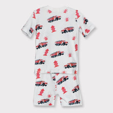 Load image into Gallery viewer, Boys Short Sleeve Shorts Set, Fire Engines