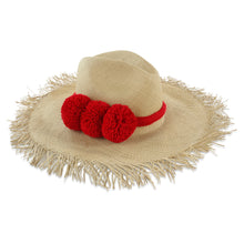 Load image into Gallery viewer, Guadalupe Fringe Pom Pom Hat