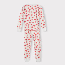 Load image into Gallery viewer, Girls Long Sleeve Pajama Set, Hearts