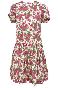 Cotton Emma Dress, Fuschia Rose
