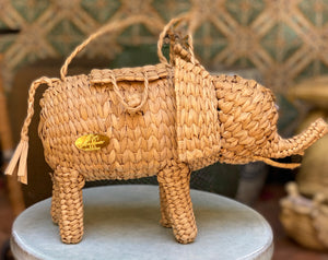 Wicker Elephant Purse