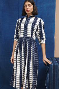 Isla Dress, Ikat Super-Stripe