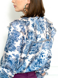 The Toile Ruffled Shirt