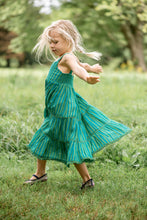 Load image into Gallery viewer, Girls Cabana Green Maxi Dress