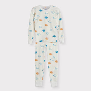 Boys Long Sleeve Pajama Set, Planets