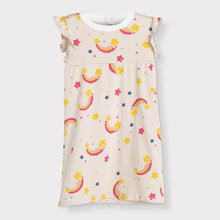 Load image into Gallery viewer, Girls Flutter Sleeve Daywear Dress, Rainbows