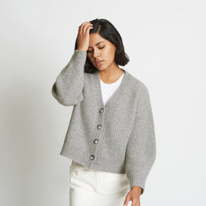 Alix Ribbed Pure Cashmere Cardigan