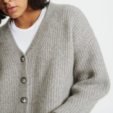 Load image into Gallery viewer, Alix Ribbed Pure Cashmere Cardigan