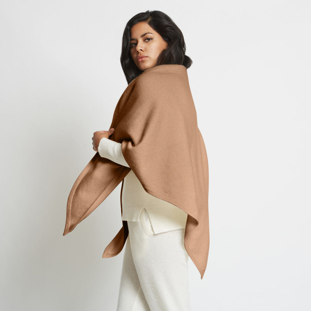 Anna Cashmere Oversized Triangle Scarf, Multiple Colors