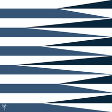 Load image into Gallery viewer, SHARDS AND STRIPES Navy Midnight