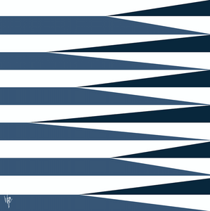 SHARDS AND STRIPES Navy Midnight