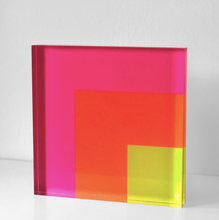 Load image into Gallery viewer, NESTING SQUARES Pink Orange Lime