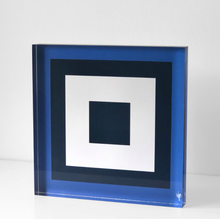 Load image into Gallery viewer, SQUARES Brilliant Blue Navy