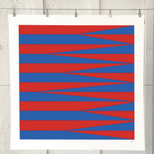 Load image into Gallery viewer, SHARDS AND STRIPES Red Blue