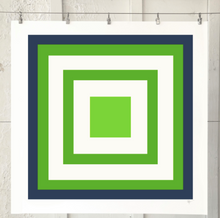 Load image into Gallery viewer, SQUARE MAZE Navy Lime Kelly